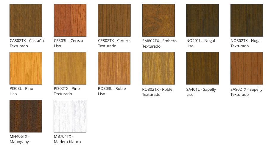 Colores - Puertas de aluminio color madera ...