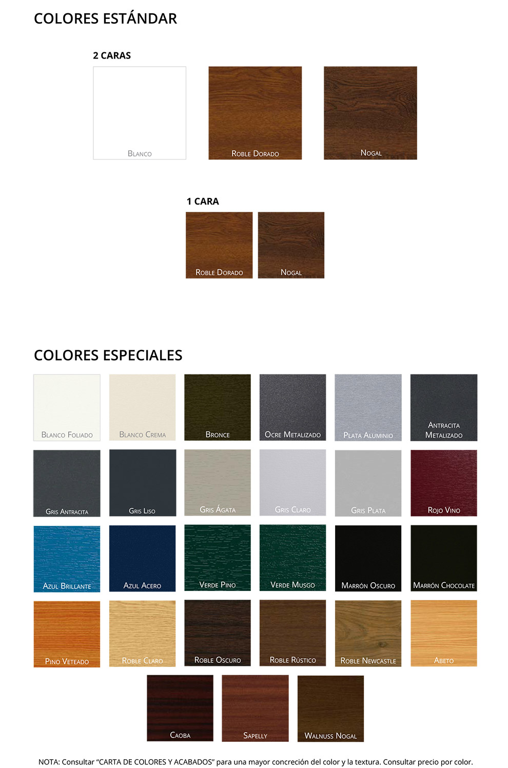 Colores para ventanas de aluminio free ventanas de pvc for Colores de aluminio para ventanas